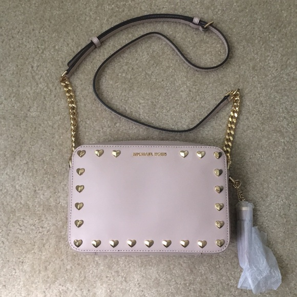 52e2802e5fb9 Michael Kors Bags | Medium Ginny Heart Studded Camera Bag | Poshmark